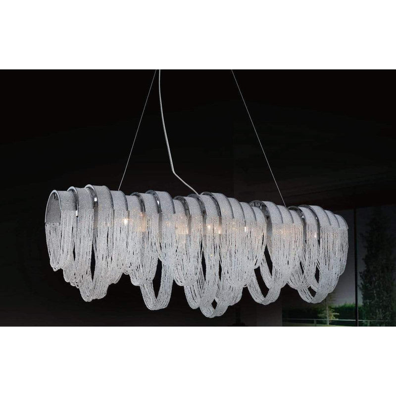 CWI Lighting Chandeliers Chrome / K9 Clear Engaged 10 Light Down Chandelier with Chrome finish by CWI Lighting 5615P42C-RC