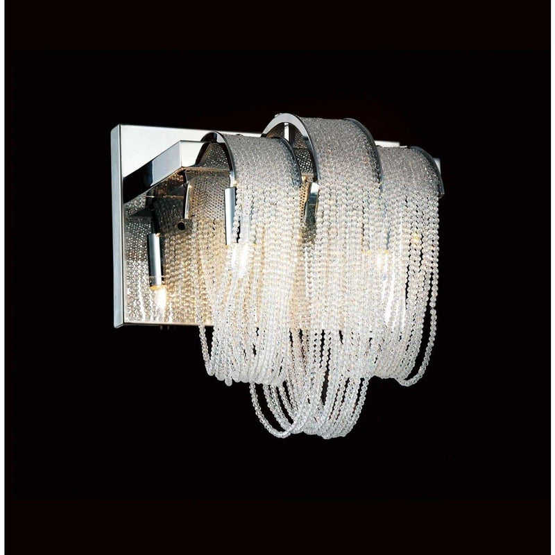 CWI Lighting Bathroom Lighting Chrome / K9 Clear Engaged 2 Light Vanity Light with Chrome finish by CWI Lighting 5615W9C