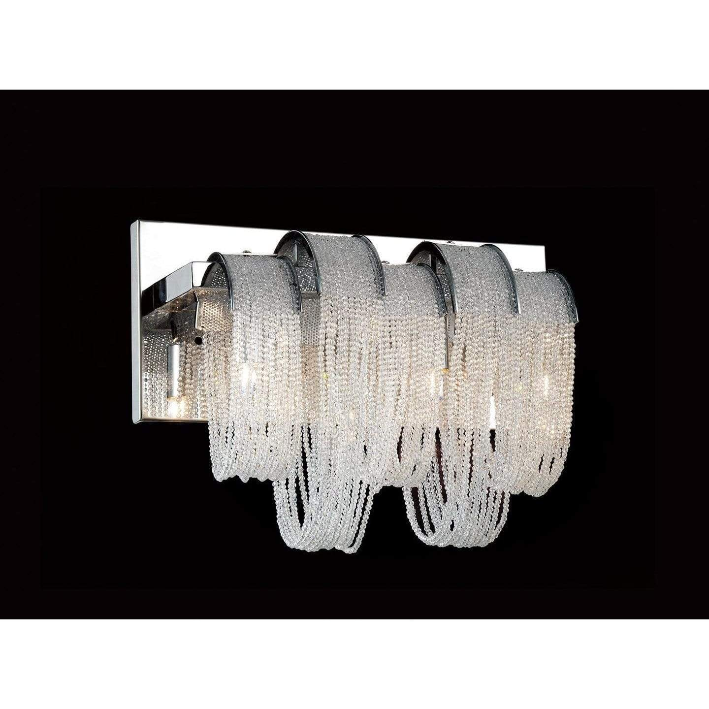 CWI Lighting Bathroom Lighting Chrome / K9 Clear Engaged 3 Light Vanity Light with Chrome finish by CWI Lighting 5615W13C