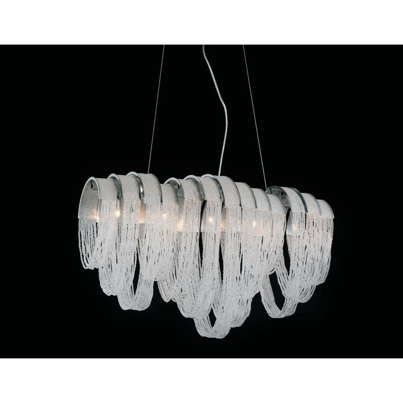 CWI Lighting Chandeliers Chrome / K9 Clear Engaged 6 Light Down Chandelier with Chrome finish by CWI Lighting 5615P26C-RC