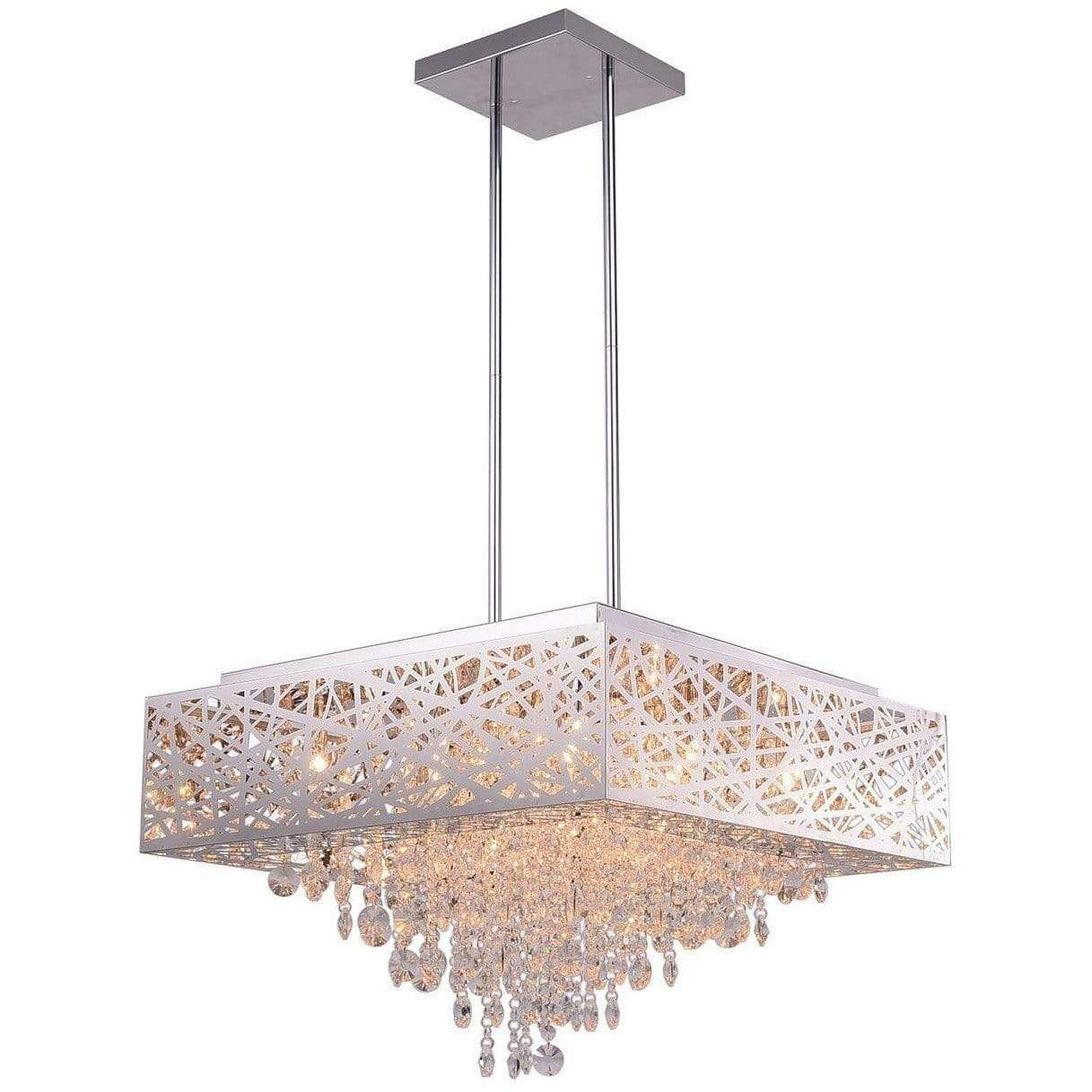 CWI Lighting Chandeliers Chrome / K9 Clear Eternity 12 Light Chandelier with Chrome Finish by CWI Lighting 1032P22-12-601-S