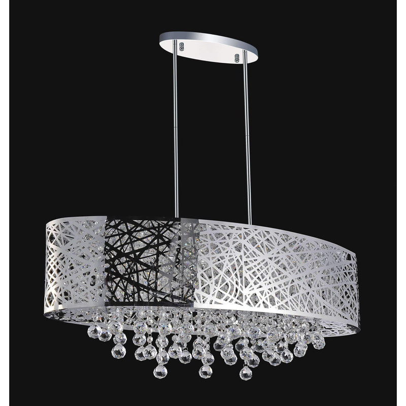 CWI Lighting Chandeliers Chrome / K9 Clear Eternity 8 Light Drum Shade Chandelier with Chrome finish by CWI Lighting 5008P32ST-O