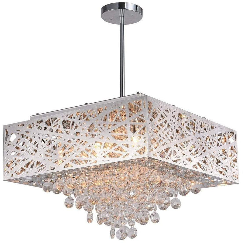 CWI Lighting Chandeliers Chrome / K9 Clear Eternity 9 Light Chandelier with Chrome Finish by CWI Lighting 1032P18-9-601-S