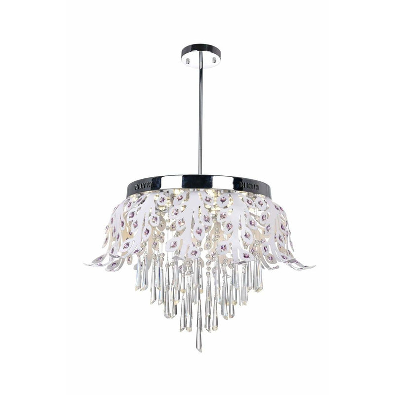 CWI Lighting Chandeliers Chrome Frost LED Down Chandelier with Chrome finish by CWI Lighting 5452P20C-LED