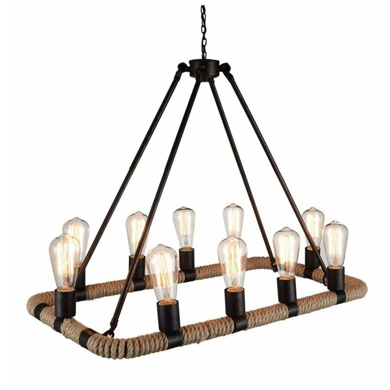CWI Lighting Chandeliers Brown Ganges 10 Light Up Chandelier with Brown finish by CWI Lighting 9671P32-10-130