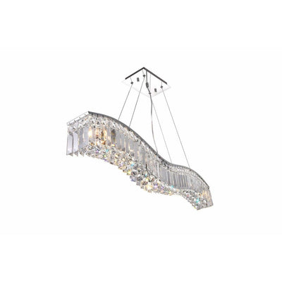 CWI Lighting Chandeliers Chrome / K9 Clear Glamorous 7 Light Down Chandelier with Chrome finish by CWI Lighting 8004P36C-B (clear)