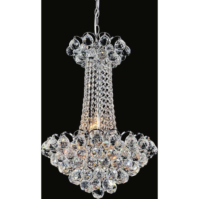 CWI Lighting Chandeliers Chrome Glimmer 11 Light Down Chandelier with Chrome finish by CWI Lighting 8008P16C