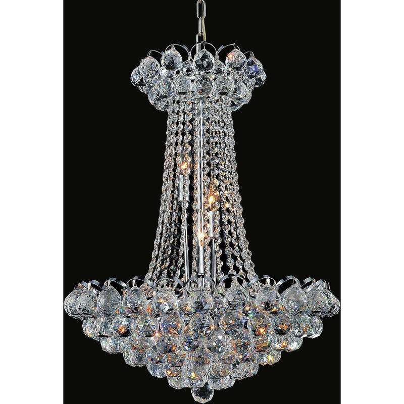 CWI Lighting Chandeliers Chrome Glimmer 11 Light Down Chandelier with Chrome finish by CWI Lighting 8008P21C