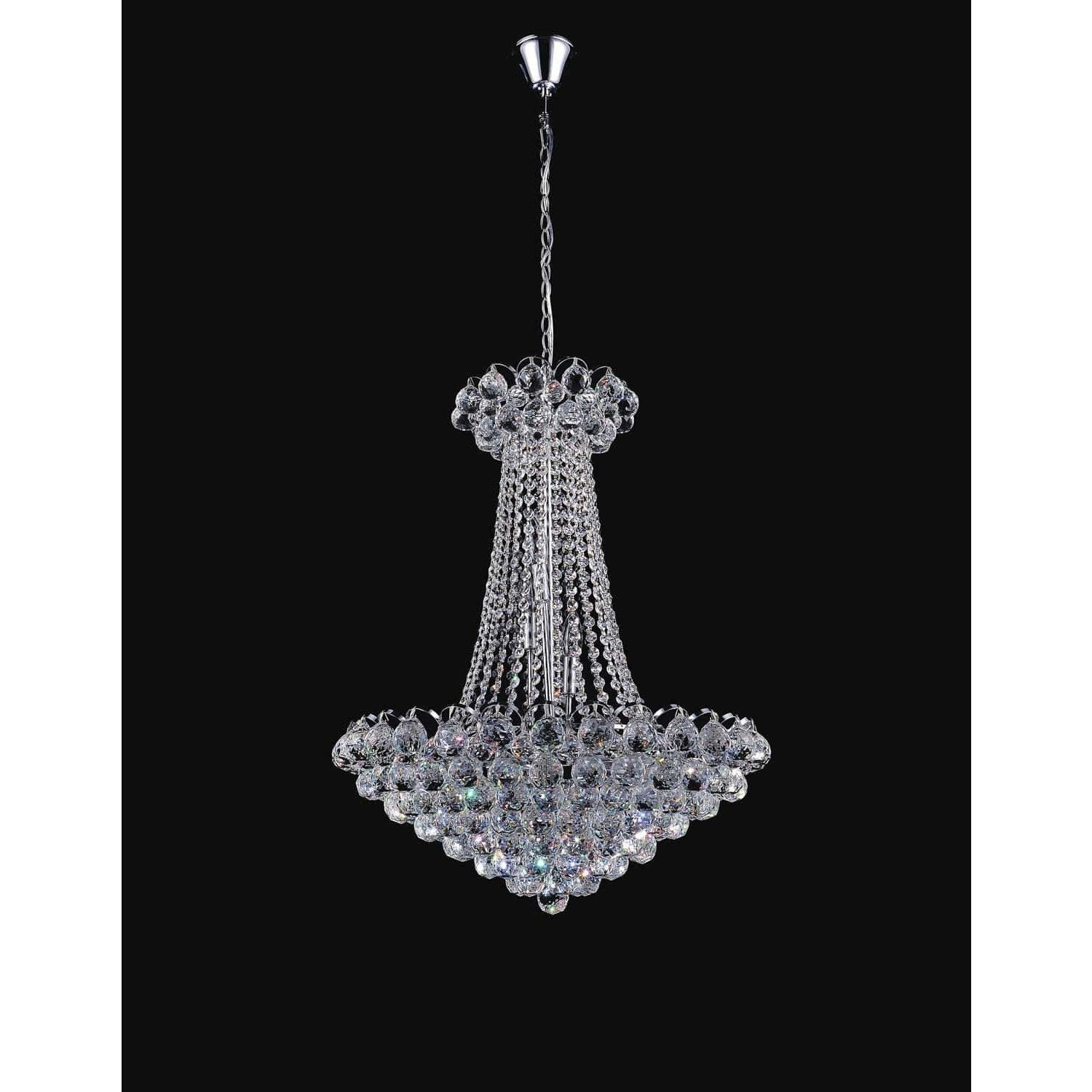 CWI Lighting Chandeliers Chrome Glimmer 11 Light Down Chandelier with Chrome finish by CWI Lighting 8008P24C