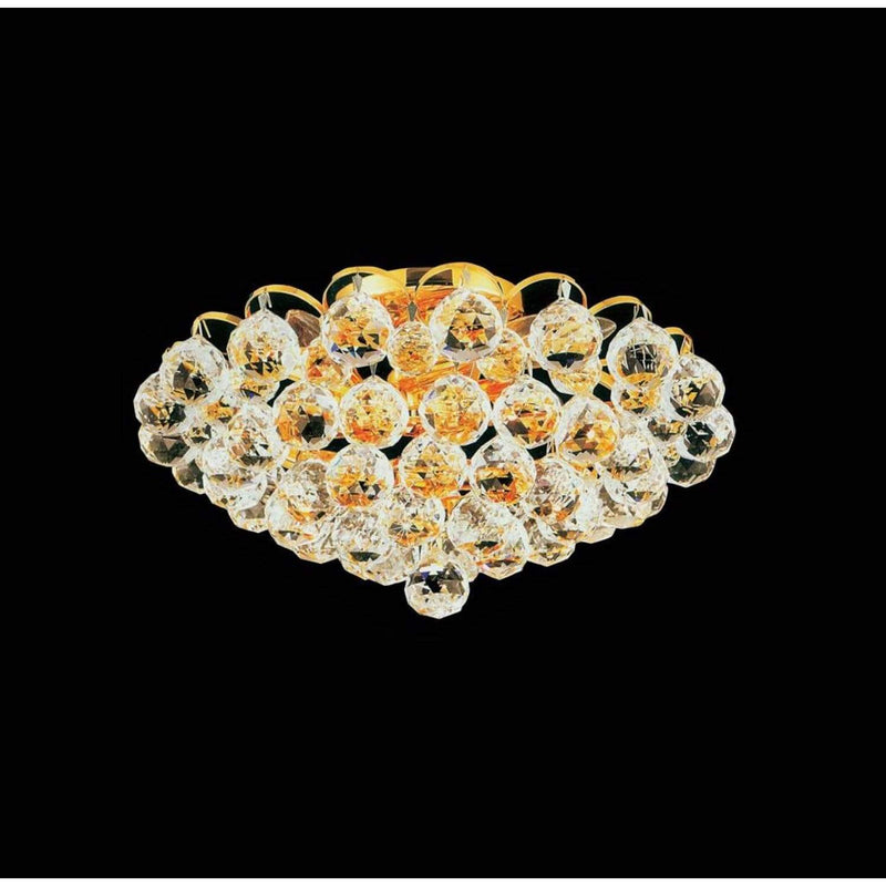 CWI Lighting Flush Mounts Gold Glimmer 4 Light Flush Mount with Gold finish by CWI Lighting 8008C14G