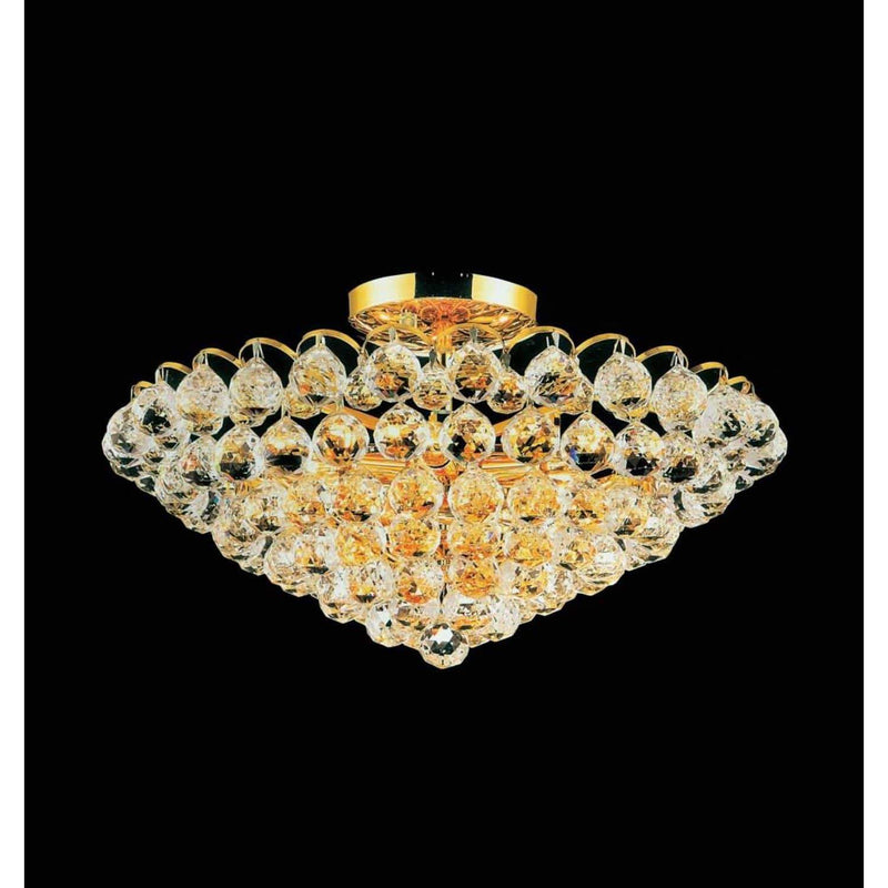CWI Lighting Flush Mounts Gold Glimmer 8 Light Flush Mount with Gold finish by CWI Lighting 8008C22G