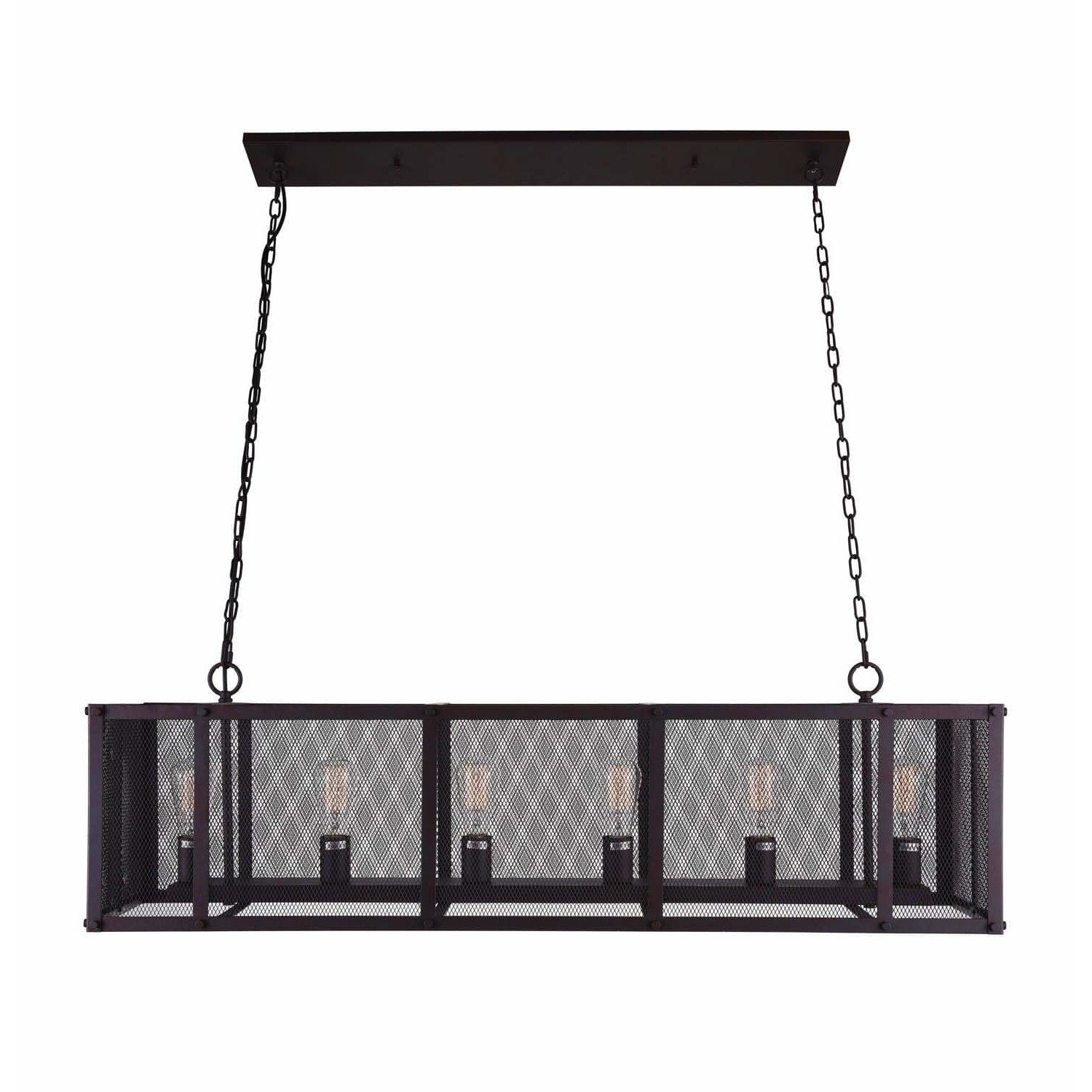 CWI Lighting Island Lighting Reddish Black Heale 6 Light Island Chandelier with Reddish Black finish by CWI Lighting 9937P47-6-219