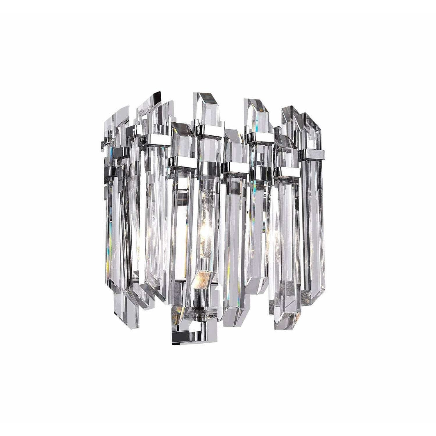CWI Lighting Wall Sconces Chrome / K9 Clear Henrietta 1 Light Wall Sconce with Chrome Finish by CWI Lighting 1065W8-1-601