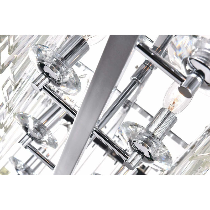 CWI Lighting Pool Table Lights Chrome / K9 Clear Henrietta 10 Light Chandelier with Chrome Finish by CWI Lighting 1065P47-10-601-RC