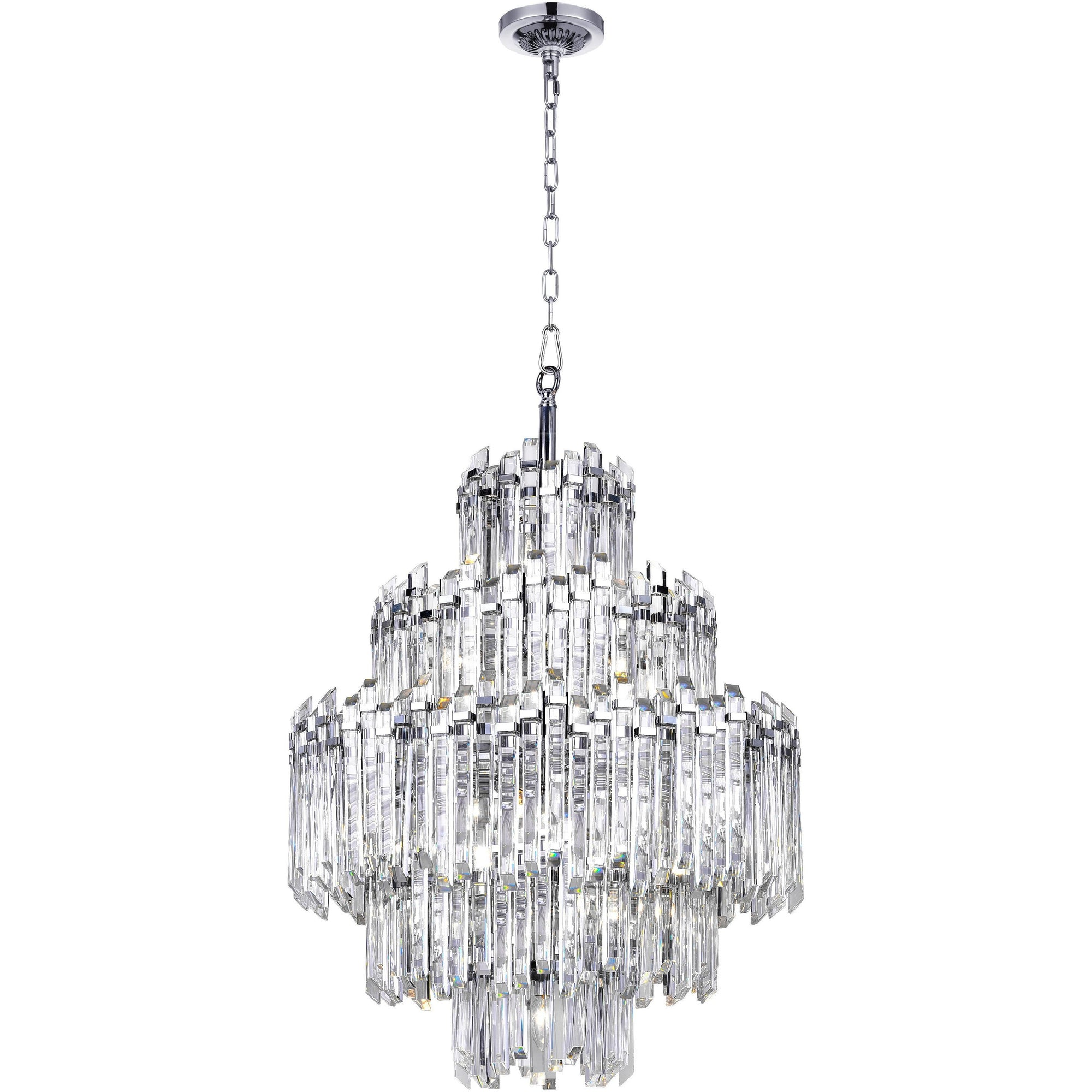 CWI Lighting Chandeliers Chrome / K9 Clear Henrietta 15 Light Chandelier with Chrome Finish by CWI Lighting 1065P28-15-601