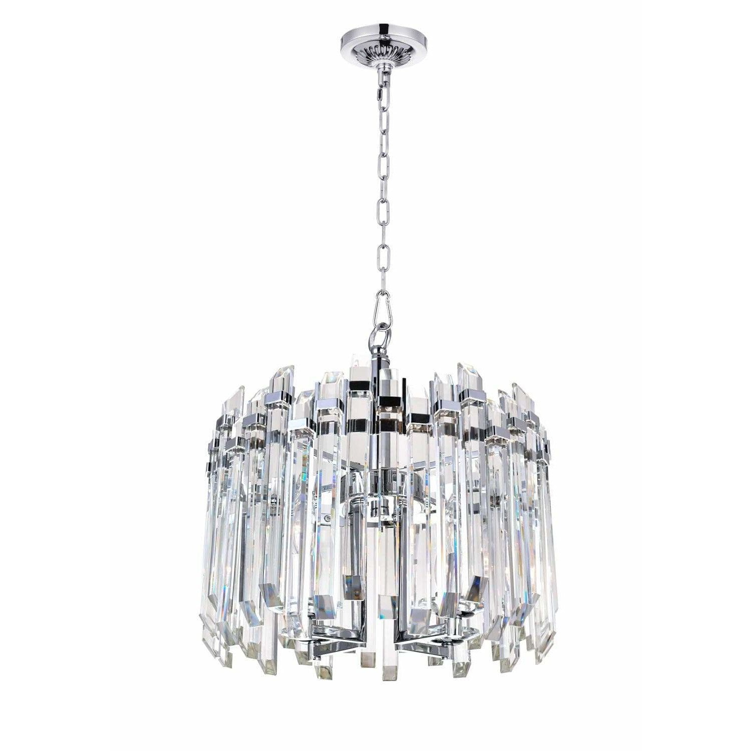 CWI Lighting Chandeliers Chrome / K9 Clear Henrietta 4 Light Chandelier with Chrome Finish by CWI Lighting 1065P16-4-601
