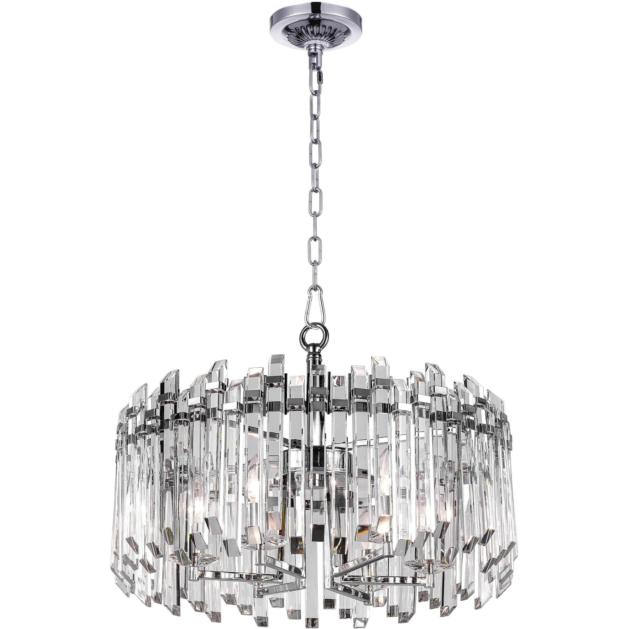 CWI Lighting Chandeliers Chrome / K9 Clear Henrietta 6 Light Chandelier with Chrome Finish by CWI Lighting 1065P24-6-601