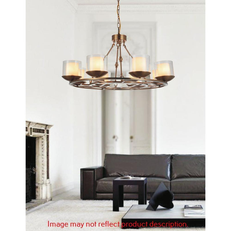 CWI Lighting Chandeliers Satin Nickel Hera 8 Light Candle Chandelier with Satin Nickel finish by CWI Lighting 9877P35-8-606