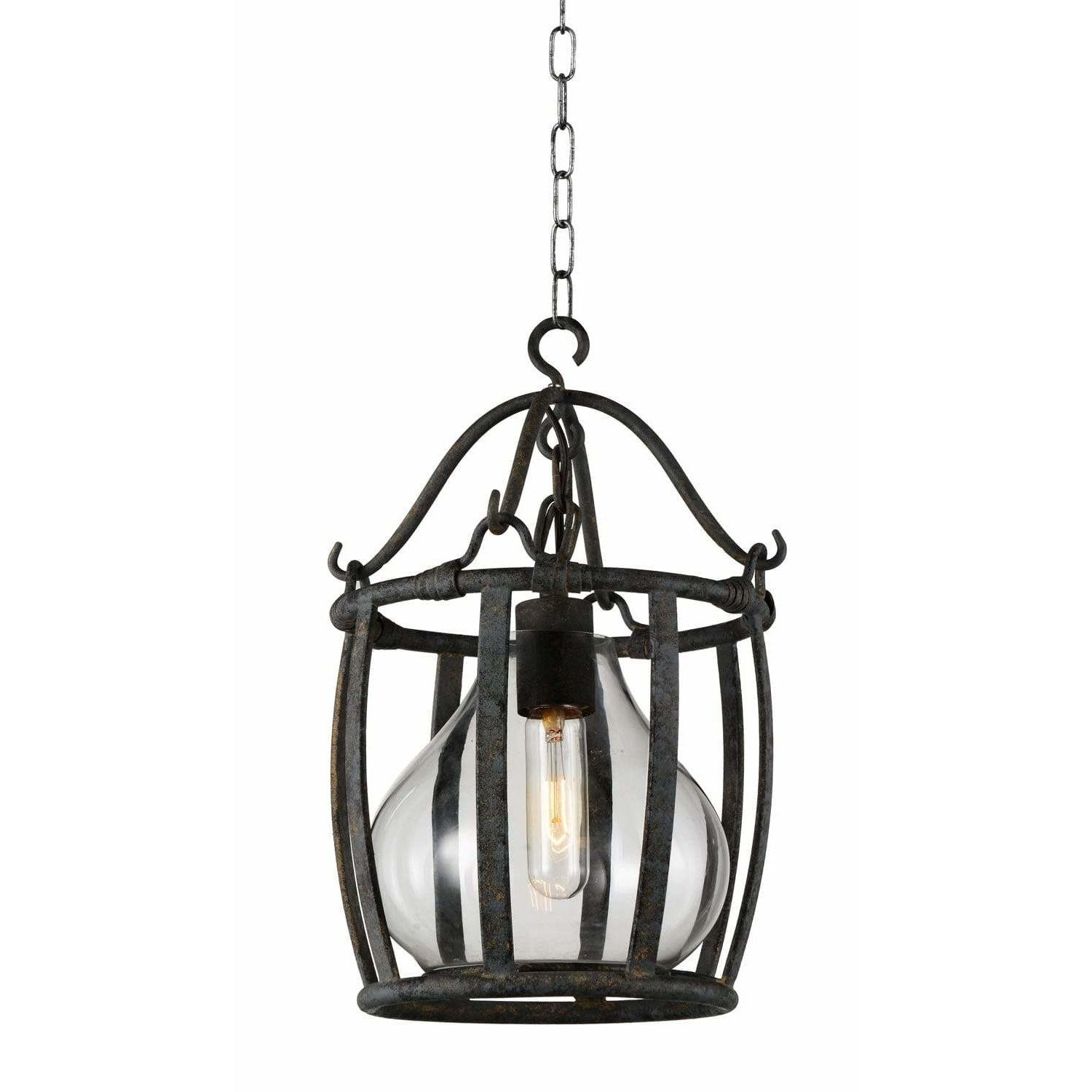 CWI Lighting Pendants Antique Black Imperial 1 Light Down Pendant with Antique Black finish by CWI Lighting 9925P12-1-216