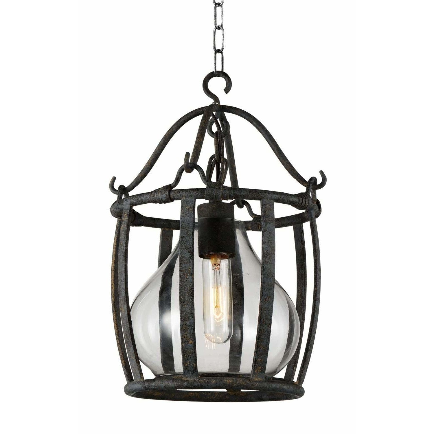 CWI Lighting Pendants Antique Black Imperial 1 Light Down Pendant with Antique Black finish by CWI Lighting 9925P16-1-216