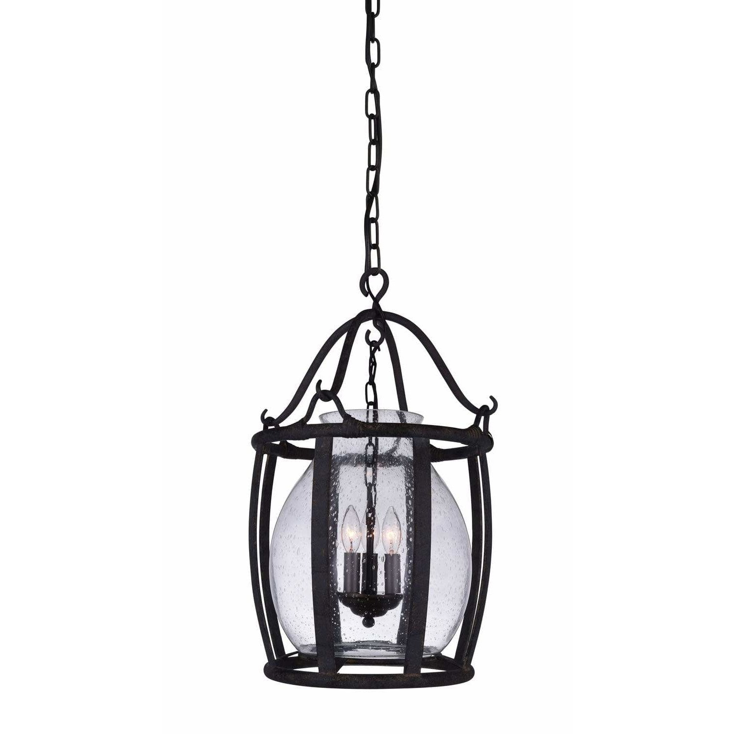 CWI Lighting Pendants Antique Black Imperial 3 Light Up Pendant with Antique Black finish by CWI Lighting 9925P16-3-216