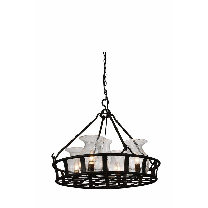 CWI Lighting Chandeliers Antique Black Imperial 5 Light Up Chandelier with Antique Black finish by CWI Lighting 9925P26-5-216