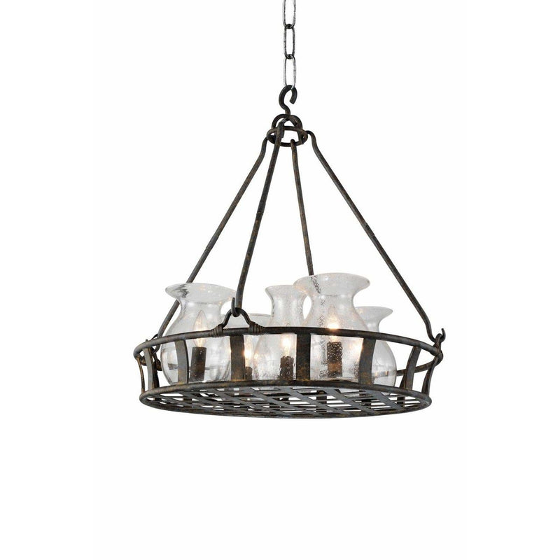 CWI Lighting Chandeliers Antique Black Imperial 6 Light Up Chandelier with Antique Black finish by CWI Lighting 9925P32-6-216
