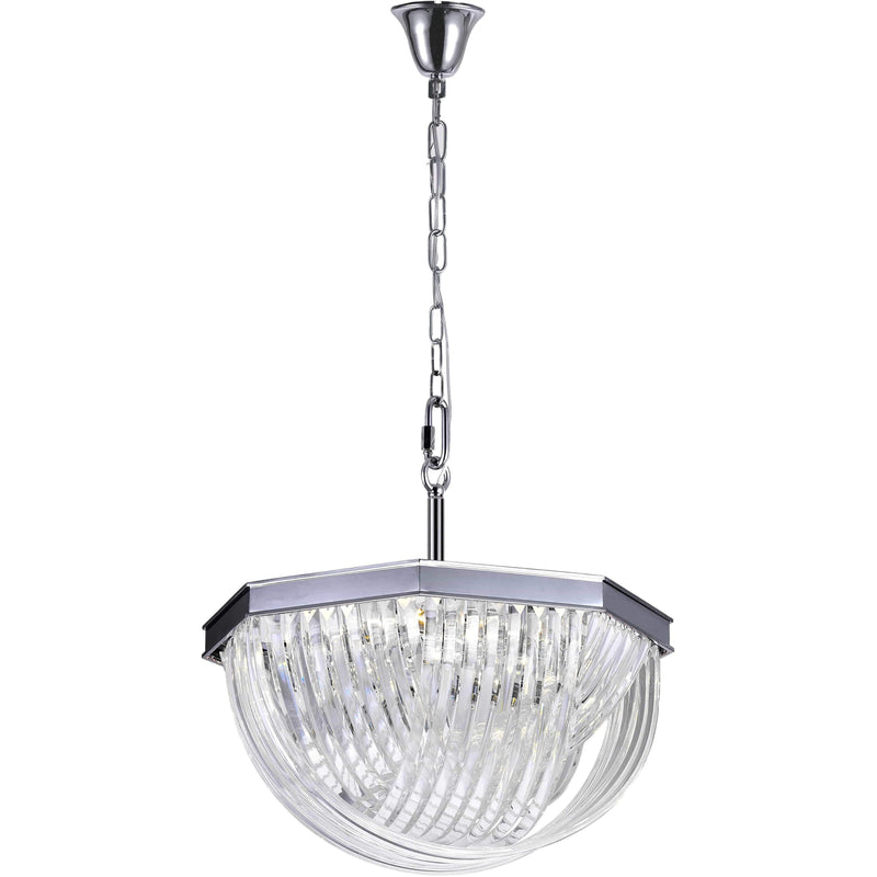 CWI Lighting Chandeliers Chrome / K9 Clear Isabella 10 Light Chandelier with Chrome Finish by CWI Lighting 1091P24-10-601