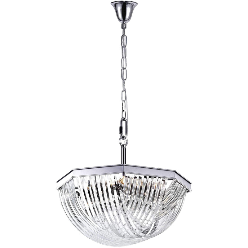 CWI Lighting Chandeliers Chrome / K9 Clear Isabella 12 Light Chandelier with Chrome Finish by CWI Lighting 1091P32-12-601