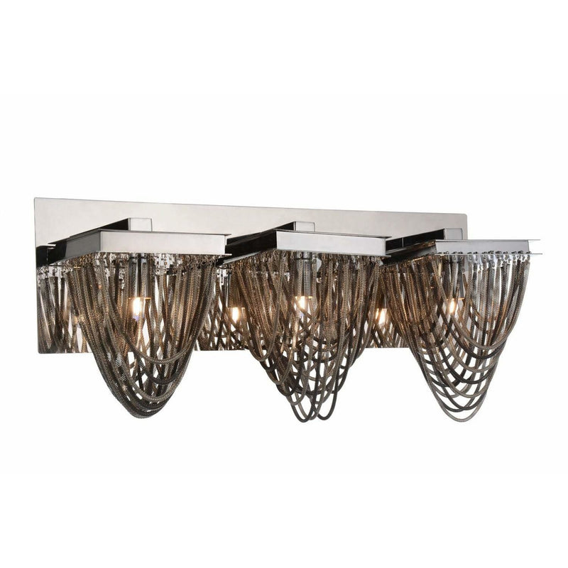 CWI Lighting Bathroom Lighting Chrome Isla 3 Light Vanity Light with Chrome finish by CWI Lighting 5702W21C-3