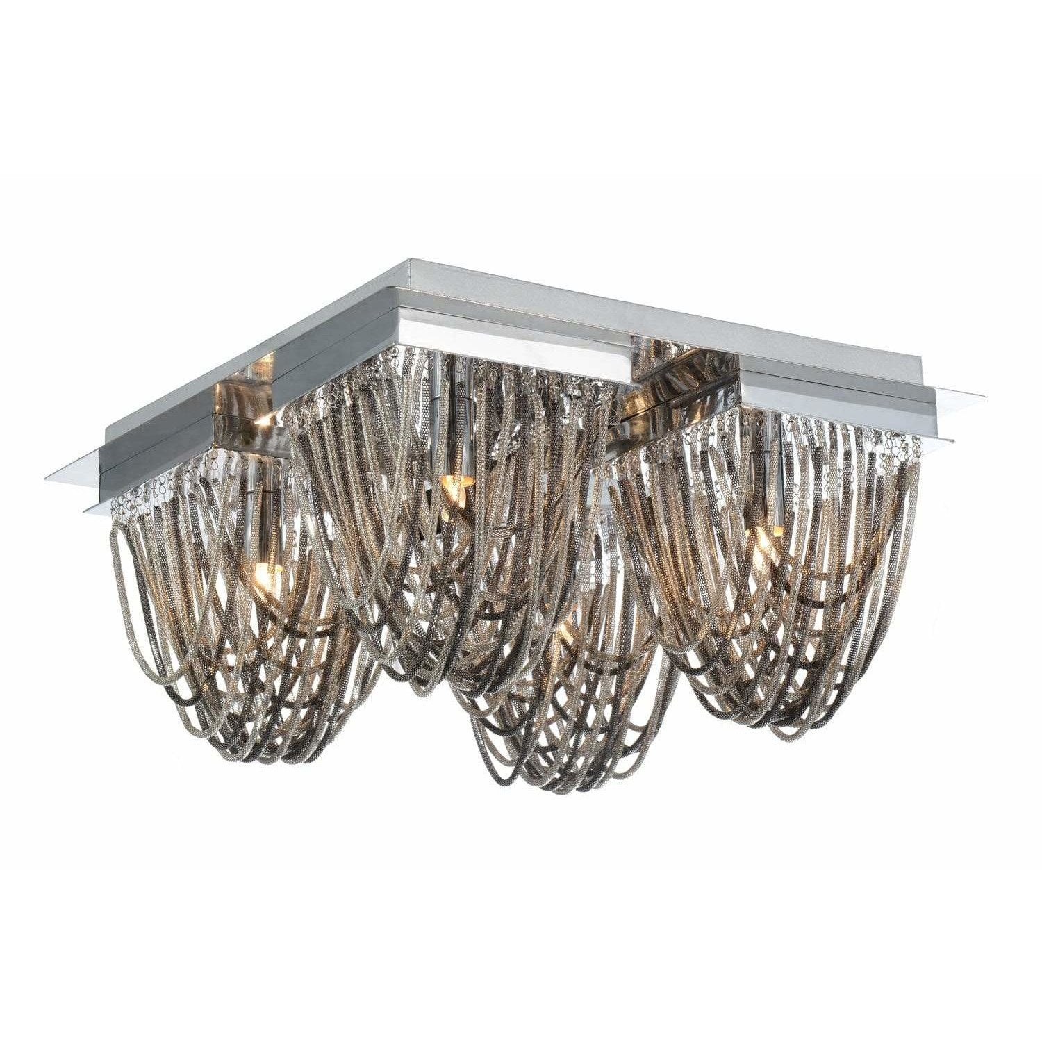 CWI Lighting Flush Mounts Chrome Isla 4 Light Flush Mount with Chrome finish by CWI Lighting 5702C14C-S
