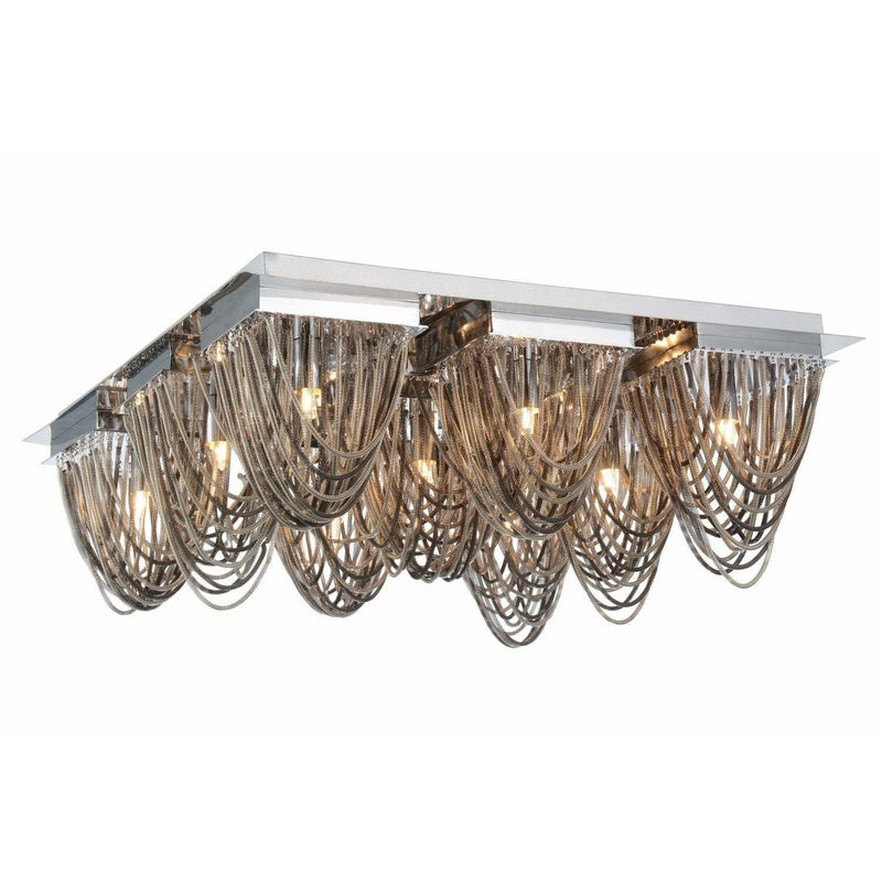 CWI Lighting Flush Mounts Chrome Isla 9 Light Flush Mount with Chrome finish by CWI Lighting 5702C21C-S