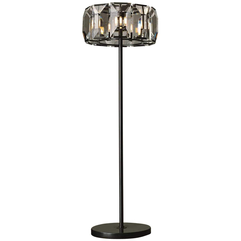 CWI Lighting Floor Lamps Black / K9 Clear Jacquet 8 Light Floor Lamp with Black finish by CWI Lighting 9860F19-8-101