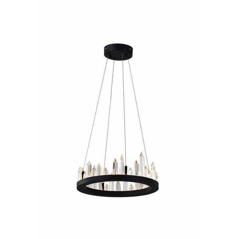CWI Lighting Chandeliers Black / K9 Clear Juliette LED Chandelier with Black Finish by CWI Lighting 1043P16-101