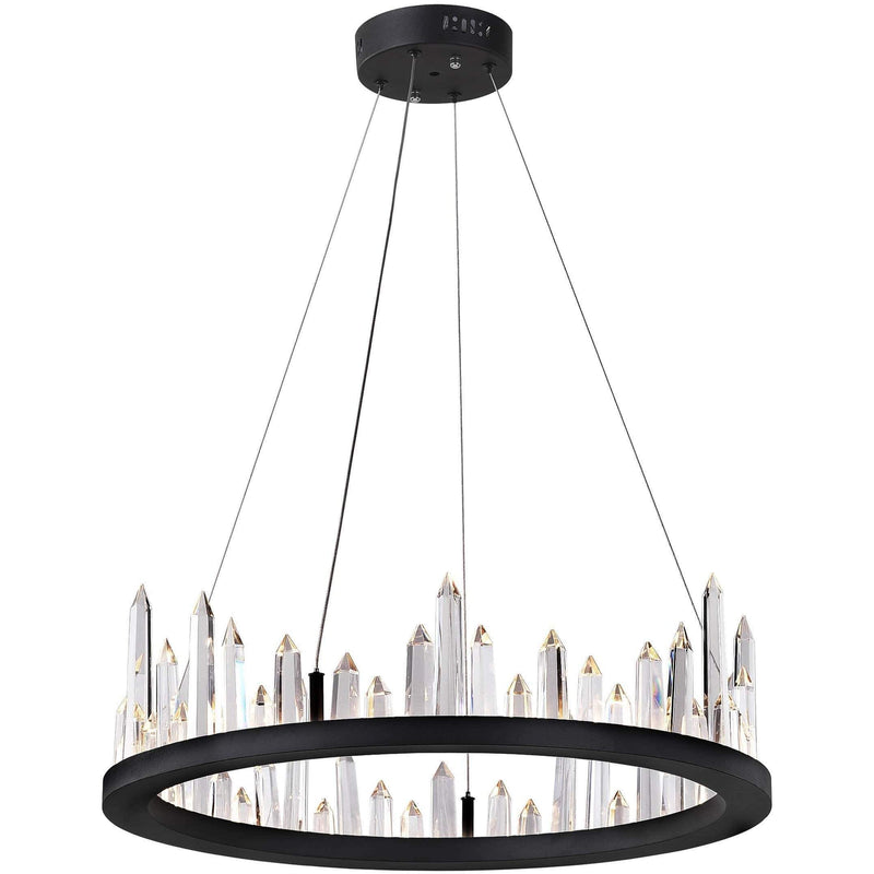 CWI Lighting Chandeliers Black / K9 Clear Juliette LED Chandelier with Black Finish by CWI Lighting 1043P24-101
