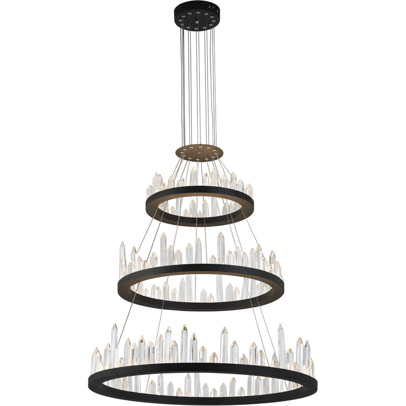 CWI Lighting Chandeliers Black / K9 Clear Juliette LED Chandelier with Black Finish by CWI Lighting 1043P42-3-101