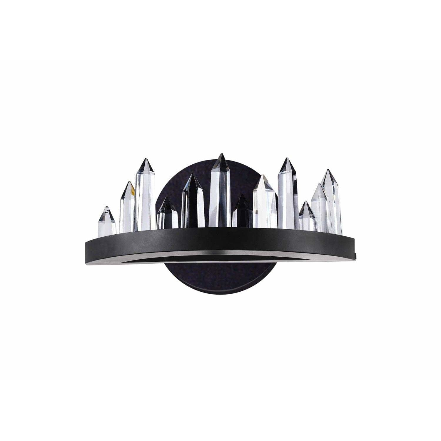 CWI Lighting Wall Sconces Black / K9 Clear Juliette LED Wall Sconce with Black Finish by CWI Lighting 1043W12-101