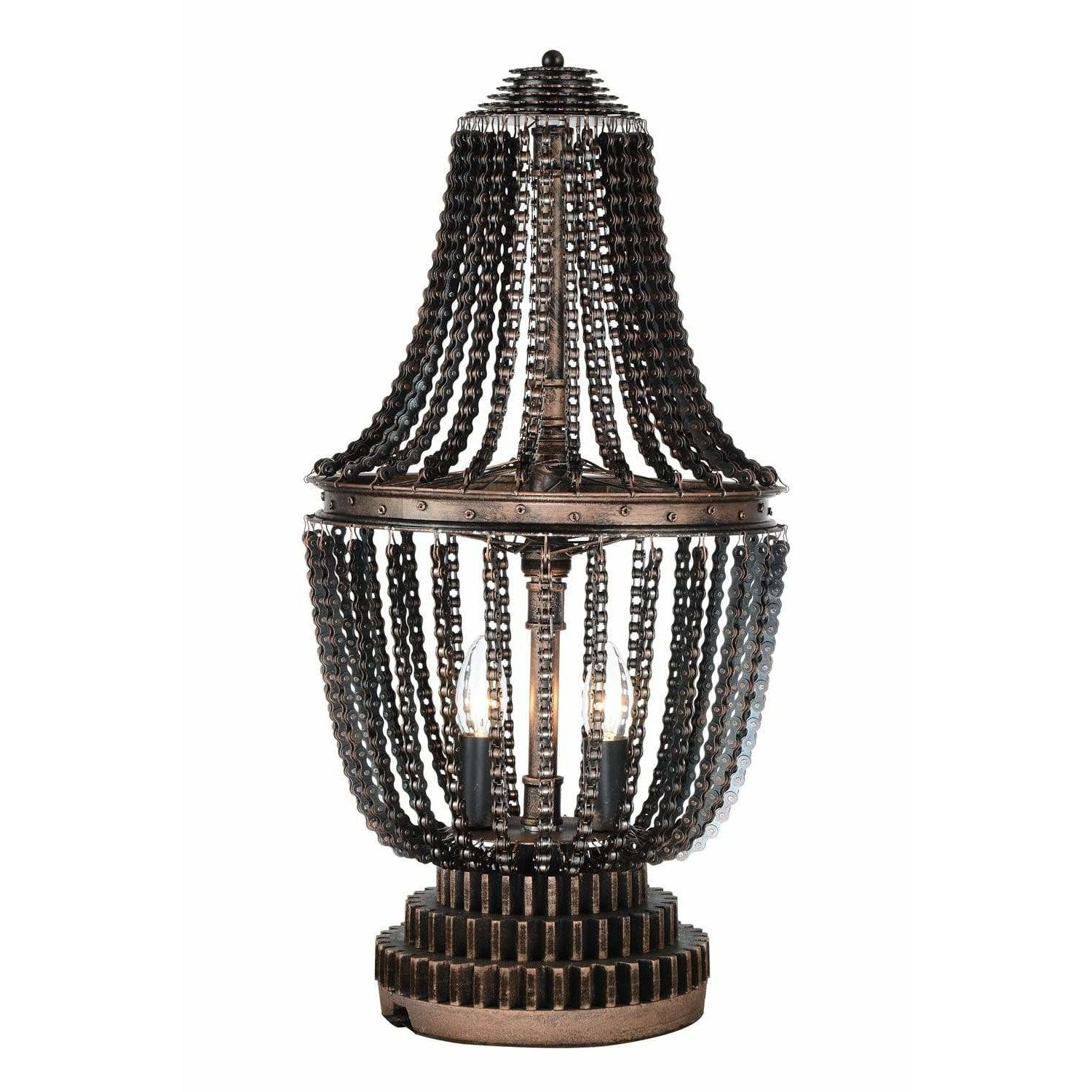CWI Lighting Table Lamps Antique Bronze Kala 2 Light Table Lamp with Antique Bronze finish by CWI Lighting 9727T13-2-211