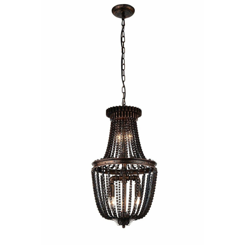 CWI Lighting Mini Chandeliers Antique Bronze Kala 4 Light Mini Chandelier with Antique Bronze finish by CWI Lighting 9727P13-4-211