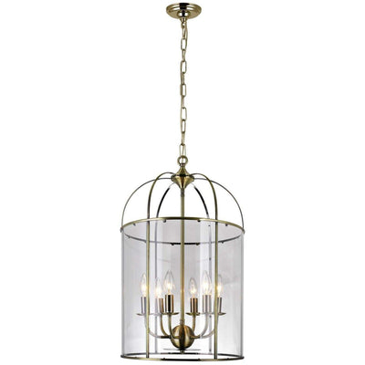 CWI Lighting Chandeliers Antique Bronze / Clear Kalu 6 Light Up Chandelier with Antique Bronze finish by CWI Lighting 9912P15-6-604