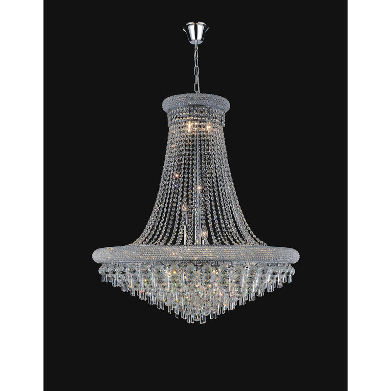 CWI Lighting Chandeliers Chrome / K9 Clear Kingdom 20 Light Down Chandelier with Chrome finish by CWI Lighting 8040P36C