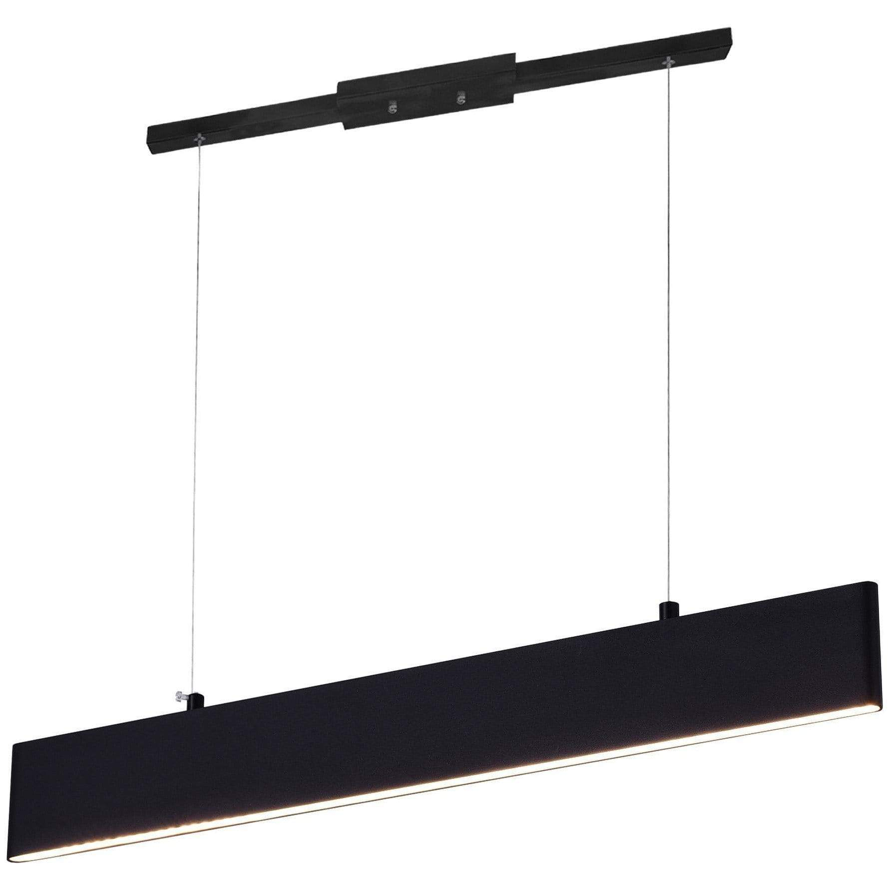 CWI Lighting Pool Table Lights Satin Black Krista LED Chandelier with Satin Black Finish by CWI Lighting 7145P25-1-253-RC