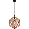 CWI Lighting Pendants Black & Wood Lante 1 Light Pendant with Black & Wood finish by CWI Lighting 9945P13-1-101