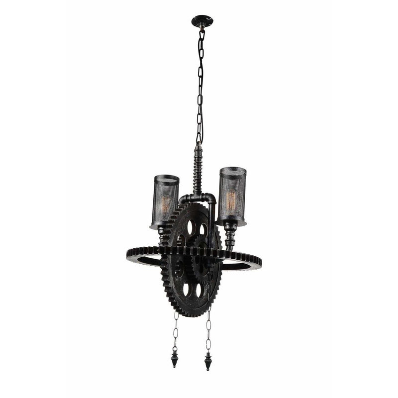 CWI Lighting Chandeliers Gray Manchi 2 Light Up Chandelier with Gray finish by CWI Lighting 9719P20-2-187