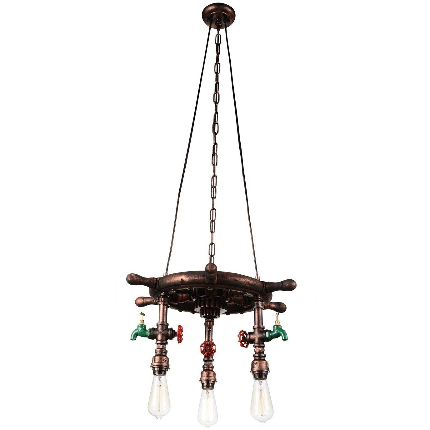 CWI Lighting Chandeliers Speckled copper Manor 3 Light Down Chandelier with Speckled copper finish by CWI Lighting 9718P22-3-210-A