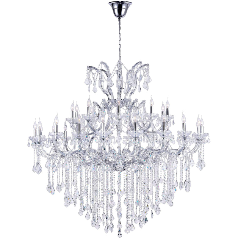 CWI Lighting Chandeliers Chrome / K9 Clear Maria Theresa 31 Light Up Chandelier with Chrome finish by CWI Lighting 8311P60C-31 (Clear)