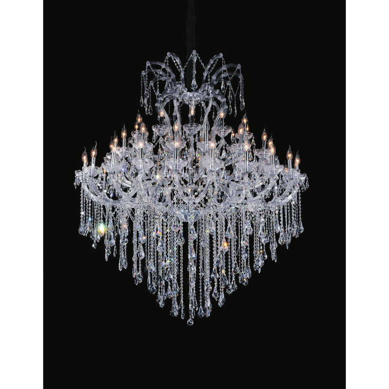 CWI Lighting Chandeliers Chrome / K9 Clear Maria Theresa 55 Light Up Chandelier with Chrome finish by CWI Lighting 8311P64C-55 (Clear)-B