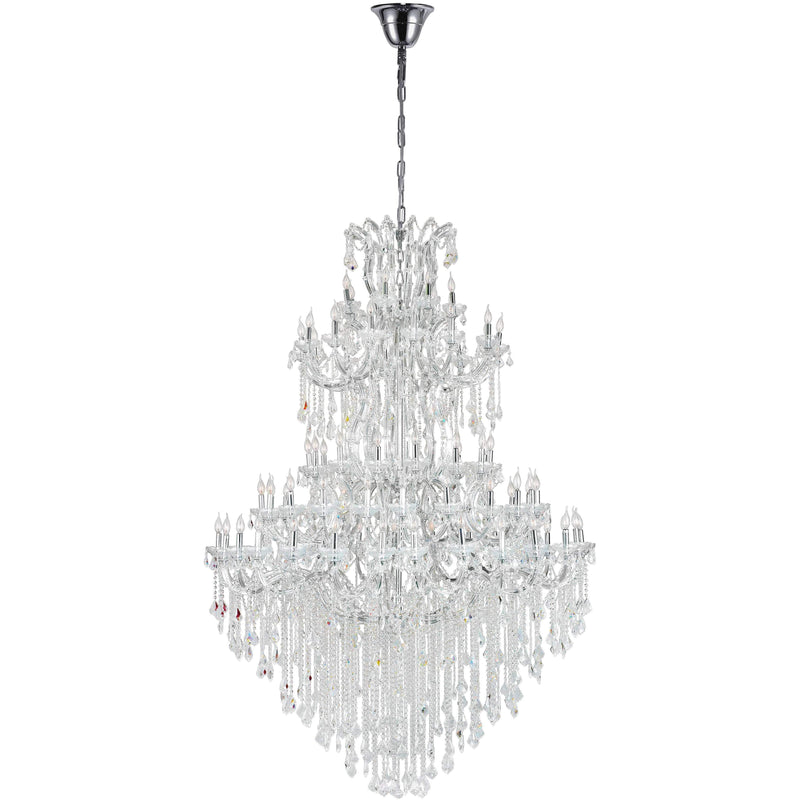 CWI Lighting Chandeliers Chrome / K9 Clear Maria Theresa 84 Light Up Chandelier with Chrome finish by CWI Lighting 8318P70C-84 (Clear)-A