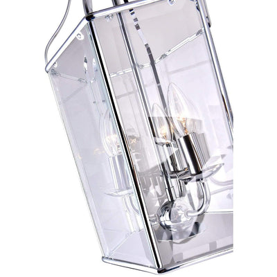 CWI Lighting Chandeliers Chrome / Clear Maury 3 Light Up Chandelier with Chrome finish by CWI Lighting 9917P10-3-601