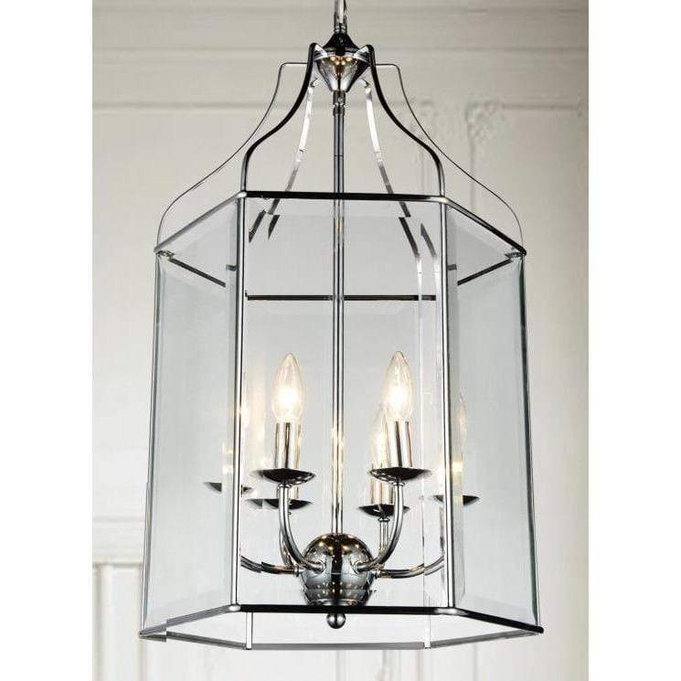 CWI Lighting Chandeliers Chrome / Clear Maury 6 Light Up Chandelier with Chrome finish by CWI Lighting 9917P16-6-601